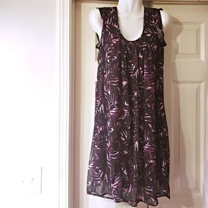 FAIRLY NEW MERONA DRESS PURPLE AND BLACK SIZE L